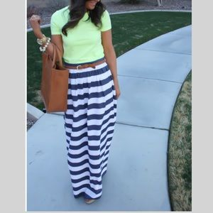Banana Republic Striped Maxi Skirt